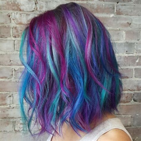 Tri Color Hairstyles Hair 50 Teal Hair Color Ideas For Everyone Hair Motive Hair Motive