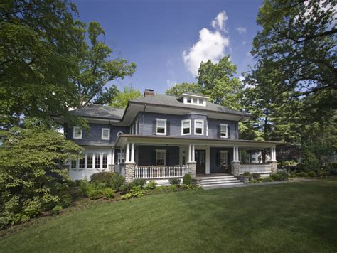 historical four square with large front porch