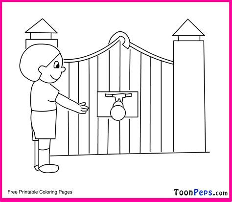 free coloring pages of gate