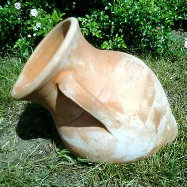 anfora da giardino vasi terracotta anfora parete bm72 terracotta bm72
