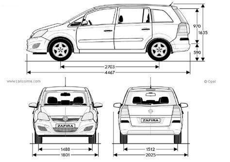 Opel Zafira Interior Dimensions by Opel Zafira Dimensions Gallery