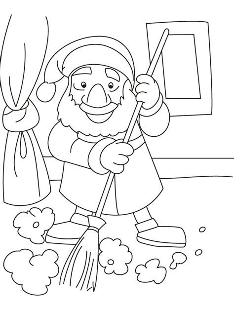 clean house coloring page clean up time coloring pages