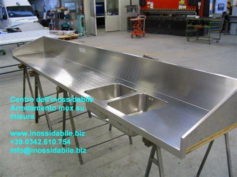 lavelli inox su misura piano cucina speciale su misura in acciaio inox satinato 1
