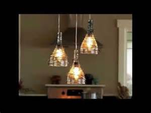 Wine Chandelier Lampe Bouteille En Verre Youtube
