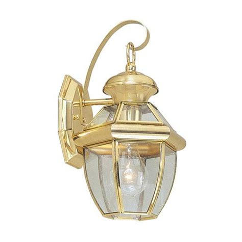 Polished Brass Light Fixtures Monterey Polished Brass Two Light Outdoor Fixture Livex Lighting Wall Mounted Outdoor Ou