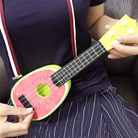 Ukulele Gitar Kecil Senar 4 Murah Bagus ukulele gitar mainan gambar buah buahan jakartanotebook