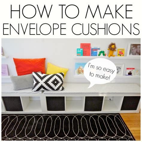 how to make bench cushions easy how to make envelope slip covers c r a f t