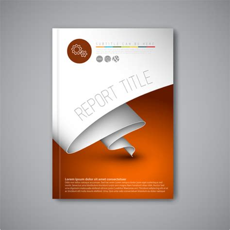 cover template design abstract brochure cover vecto template 06 vector cover