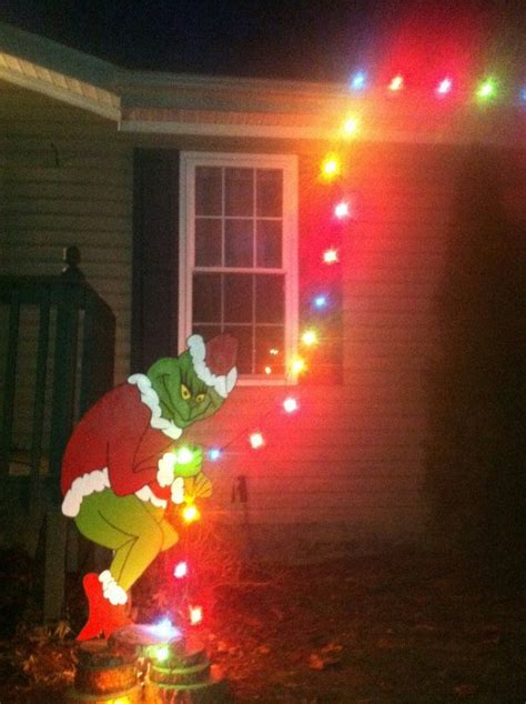 grinch yard art outdoor christmas decorations christmas