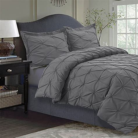 bed bath and beyond tribeca buy tribeca living sydney pintuck twin duvet cover set in