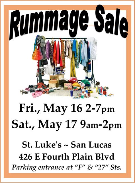 Rummage Sale Flyer church garage sale flyer pictures to pin on