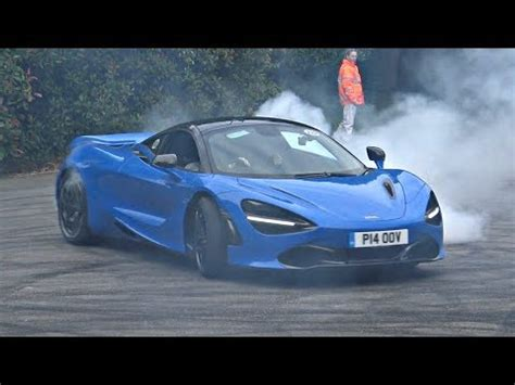 Mclaren 720s Blue by Blue Mclaren 720s Does Burnout And Donuts At 2017 Goodwood
