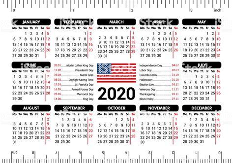 calendar usa flag  holidays ruler starting monday vector illustration stock illustration