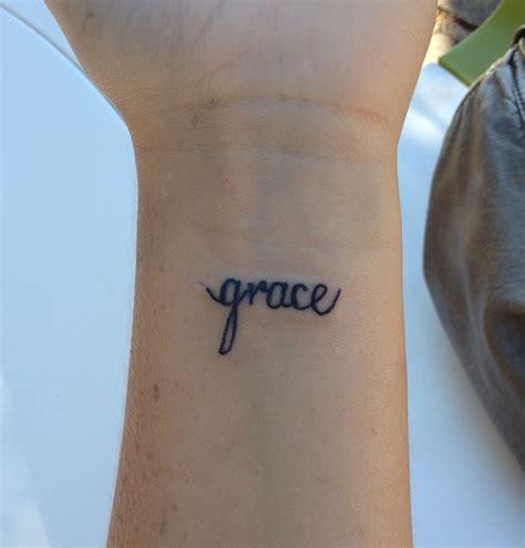 sick wrist tattoos quot grace quot wrist sick bro wrist
