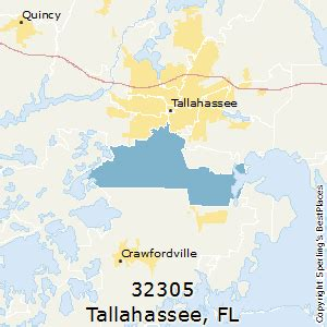 tallahassee florida zip code map best places to live in tallahassee zip 32305 florida