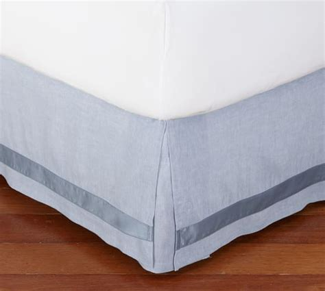 Katun Jepang Import Cotton Silk Bed Sheets 7 linen with silk trim bed skirt pottery barn
