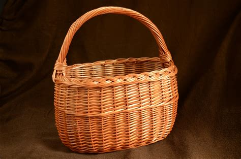 Handmade Basket - handmade wicker basket handwoven willow basket wicker picnic