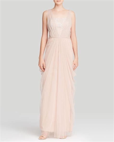 A Vera Wang Rainbow Of Dresses Part 1 by Lyst Vera Wang Gown Embellished Bodice Chiffon Overlay