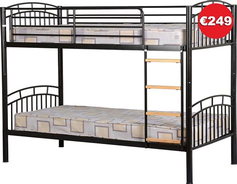 the bed store ventura bunk bed silver black frame the bed store