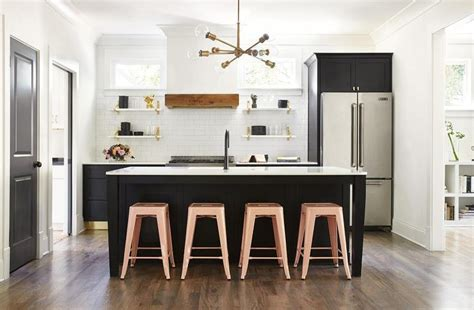 stools for island in kitchen 2018 pink stools at black center island transitional kitchen