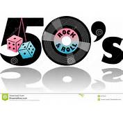 Retro 1950s Illustration With Fuzzy Dice And 45 Recordeps