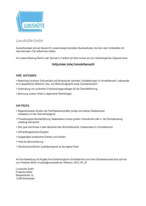 Bewerbungsvorlage Englisch muster bewerbungsvorlage f 252 r anw 228 lte und justisten