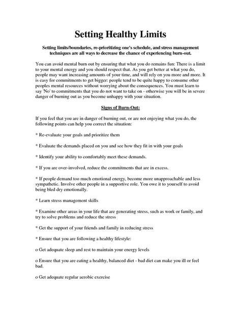 Setting Healthy Boundaries Worksheets by Healthy Boundaries Worksheet Setting Boundaries