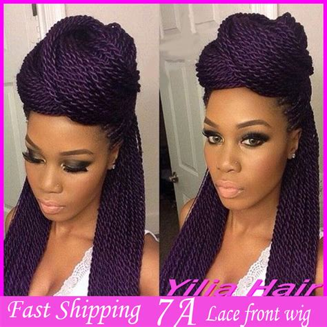 lace front braided wigs for african americans african american purple color hair kanekalon braiding