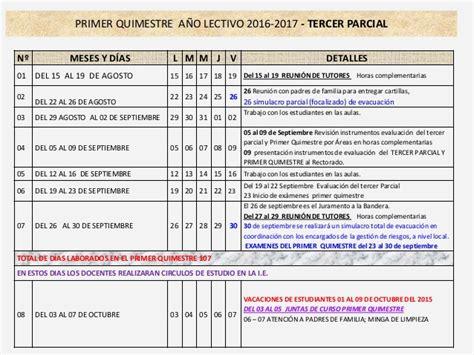 cronograma escolar r 233 gimen sierra 2015 2016 unidad cronograma de estudio de region costa 2016 2017
