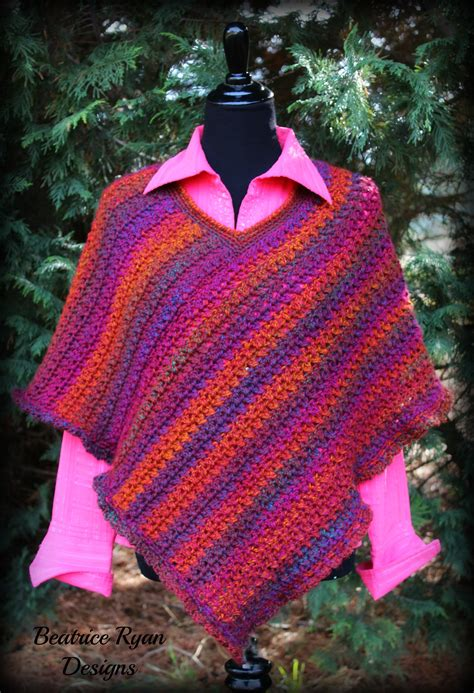 pattern crochet poncho effortless chic poncho free crochet pattern