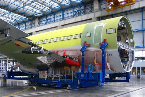 fuselage section airbus a340 assembly modern airliners