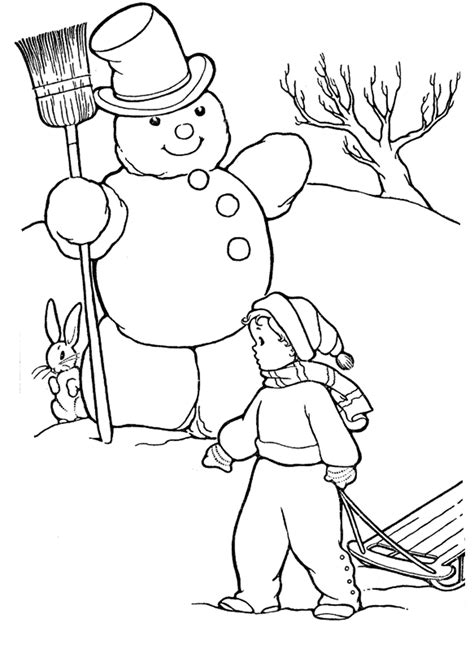 winter fairy tale coloring pages    print