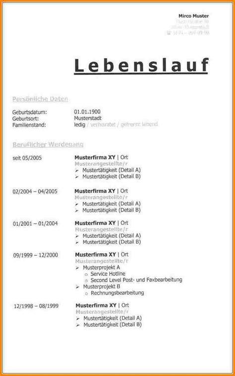 Lebenslauf Tabellarisch Vorlage 9 Lebenslauf Tabellarisch Muster Resignation Format