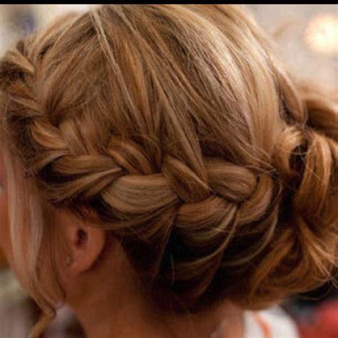 braids braided up into a bun hairstyles braid into a bun hair pinterest