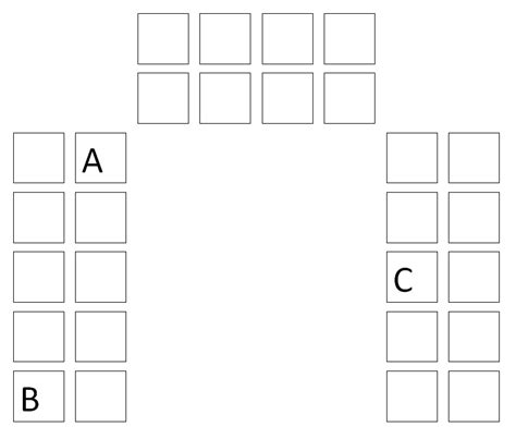 u shaped classroom seating chart template a on teaching best seating chart