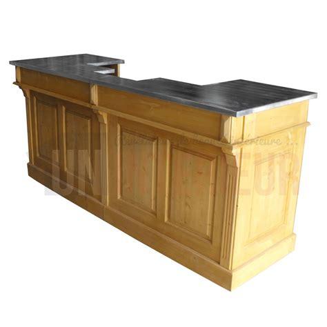 comptoir de la biere comptoir de bar sur mesure pin massif et zinc