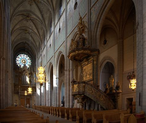 Cathedral Interior by File Uppsala Cathedral Interior Jpg