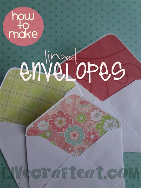 How To Make An Envelope Out Of Lined Paper - how to make an envelope pattern crafts