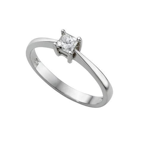 platinum quarter carat princess cut solitaire ring