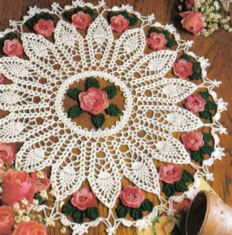 pineapple and roses doily pattern crochet kingdom