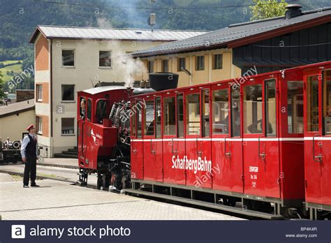 Rack And Pinion Railway by St Wolfgang Salzkammergut Austria Steam On