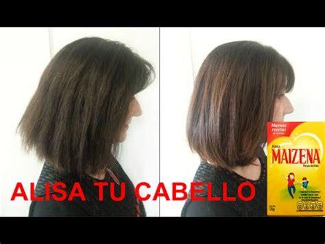 tratamiento para el cabello tratamiento a base de maizena para alisar el cabello