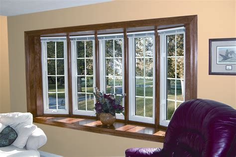 Home Windows Replacement Decorating Replacement Windows Bay Window Bow Window Larson Builders
