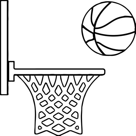 basketball net coloring pages basketball coloring pages 17 coloring pages