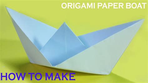 Origami Boat Tutorial - paper boat how to make a paper boat that floats origami