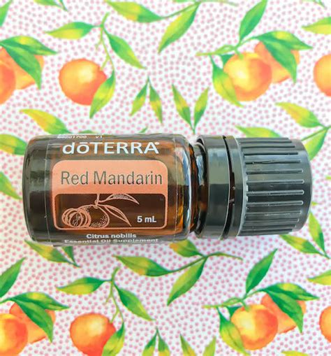 red mandarin chemistry doterra essential oils