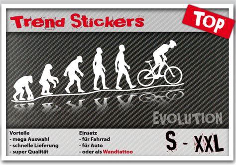 Aufkleber Vom Fahrrad Lösen by Evolution Autocollant Pour Voiture V 233 Lo Ou Mural Cycliste