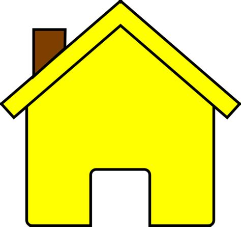 house clipart yellow house clip art at clker com vector clip art online royalty free public domain