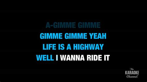 lyrics karaoke is a highway in the style of quot rascal flatts quot karaoke