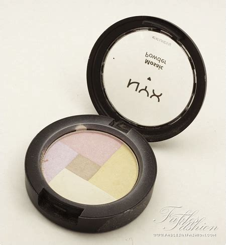 Nyx Highlighter nyx mosaic powder highlighter review swatches fables